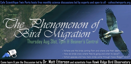 August 2017: Matt Etterson with Hawk Ridge Bird Observatory - The Phenomenon of Bird Migration